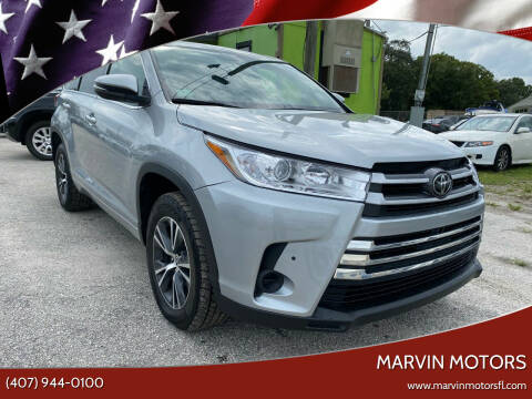 2017 Toyota Highlander for sale at Marvin Motors in Kissimmee FL