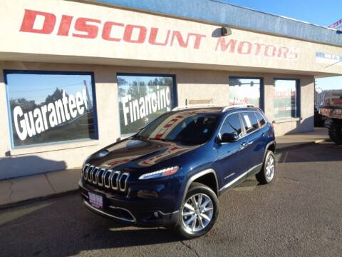 2014 Jeep Cherokee for sale at Discount Motors in Pueblo CO