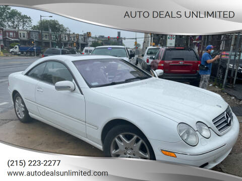 2000 Mercedes-Benz CL-Class for sale at AUTO DEALS UNLIMITED in Philadelphia PA