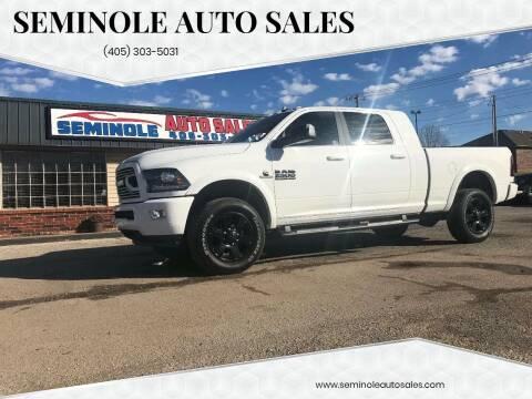 2018 RAM Ram Pickup 2500 for sale at Seminole Auto Sales in Seminole OK