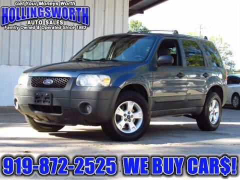 2006 Ford Escape for sale at Hollingsworth Auto Sales in Raleigh NC
