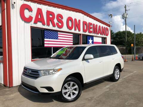2012 Toyota Highlander for sale at Cars On Demand 2 in Pasadena TX