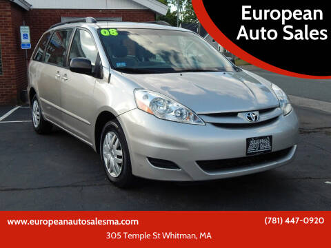 2008 Toyota Sienna for sale at European Auto Sales in Whitman MA