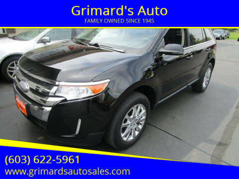 2012 Ford Edge for sale at Grimard's Auto in Hooksett NH