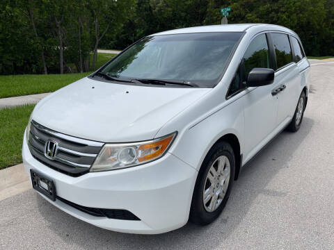 2012 Honda Odyssey for sale at L G AUTO SALES in Boynton Beach FL