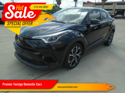 2018 Toyota C-HR for sale at Premier Foreign Domestic Cars in Houston TX