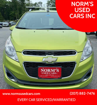 2013 Chevrolet Spark for sale at NORM'S USED CARS INC in Wiscasset ME
