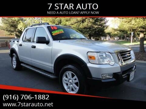 2010 Ford Explorer Sport Trac for sale at 7 STAR AUTO in Sacramento CA