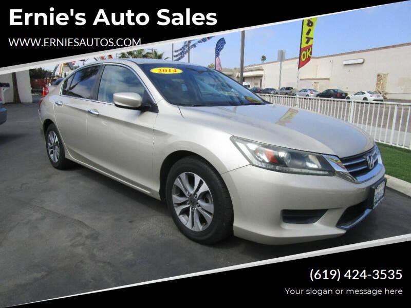 2014 Honda Accord for sale at Ernie's Auto Sales in Chula Vista CA