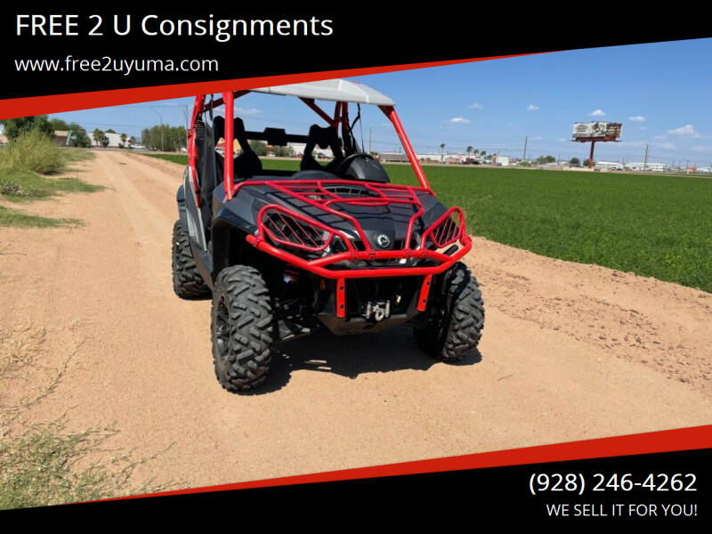 2018 Can-Am Commander for sale at FREE 2 U Consignments in Yuma AZ
