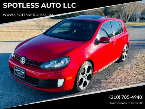 2012 Volkswagen GTI for sale at SPOTLESS AUTO LLC in San Antonio TX