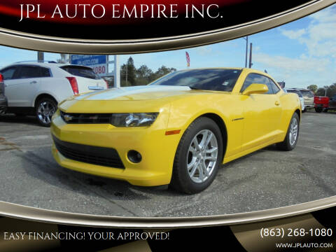 2014 Chevrolet Camaro for sale at JPL AUTO EMPIRE INC. in Auburndale FL