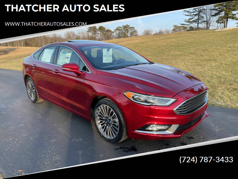 2017 Ford Fusion for sale at THATCHER AUTO SALES in Export PA