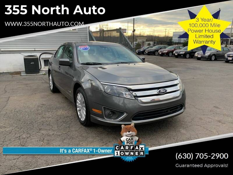 2012 Ford Fusion Hybrid for sale at 355 North Auto in Lombard IL