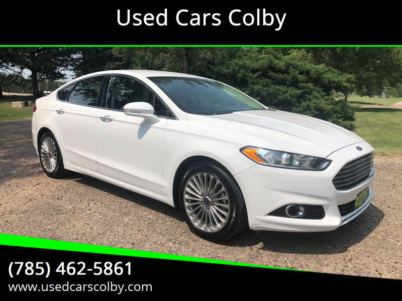2016 Ford Fusion for sale at Used Cars Colby in Colby KS