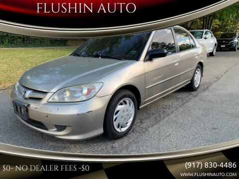 2005 Honda Civic for sale at FLUSHIN AUTO in Flushing NY