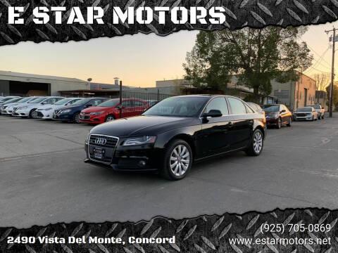 2012 Audi A4 for sale at E STAR MOTORS in Concord CA