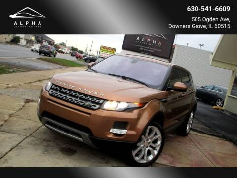 2014 Land Rover Range Rover Evoque for sale at Alpha Luxury Motors in Downers Grove IL