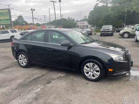 2012 Chevrolet Cruze for sale at Affordable Auto Detailing & Sales in Neptune NJ
