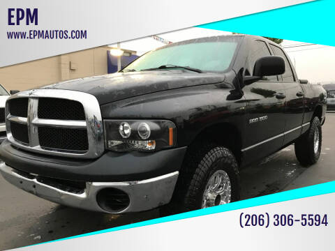 2004 Dodge Ram Pickup 1500 for sale at EPM in Auburn WA