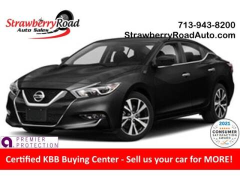 2018 Nissan Maxima for sale at Strawberry Road Auto Sales in Pasadena TX