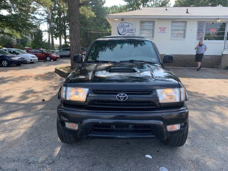 2001 Toyota 4Runner for sale at MEEK MOTORS in Richmond VA