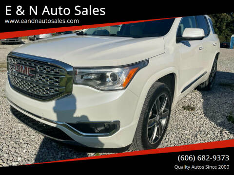 2018 GMC Acadia for sale at E & N Auto Sales in London KY