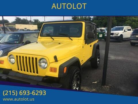 2004 Jeep Wrangler for sale at AUTOLOT in Bristol PA