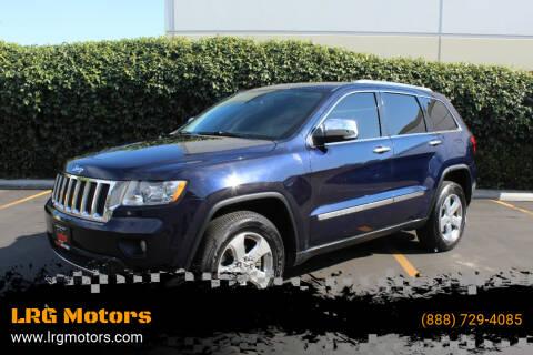 2012 Jeep Grand Cherokee for sale at LRG Motors in Montclair CA