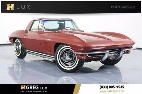 1965 Chevrolet Corvette for sale at HGREG LUX EXCLUSIVE MOTORCARS in Pompano Beach FL