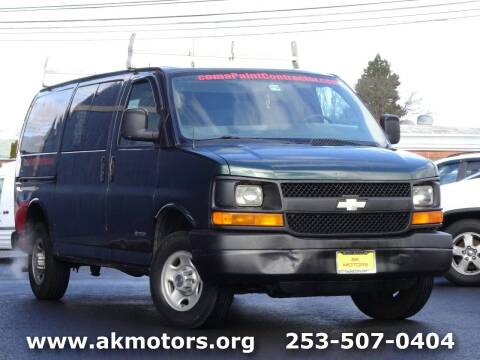2004 Chevrolet Express Cargo for sale at AK Motors in Tacoma WA