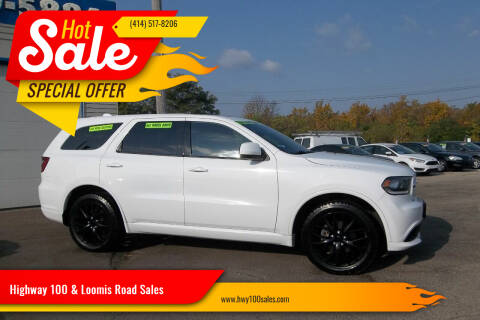 2015 Dodge Durango for sale at Highway 100 & Loomis Road Sales in Franklin WI