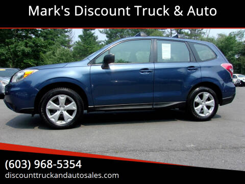 2014 Subaru Forester for sale at Mark's Discount Truck & Auto in Londonderry NH