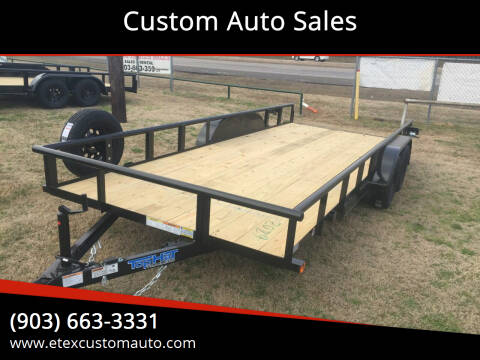 2021 Top Hat 7x18 Utility Trailer for sale at Custom Auto Sales - TRAILERS in Longview TX
