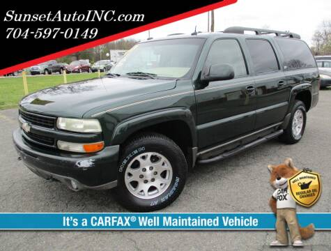 2003 Chevrolet Suburban for sale at Sunset Auto in Charlotte NC