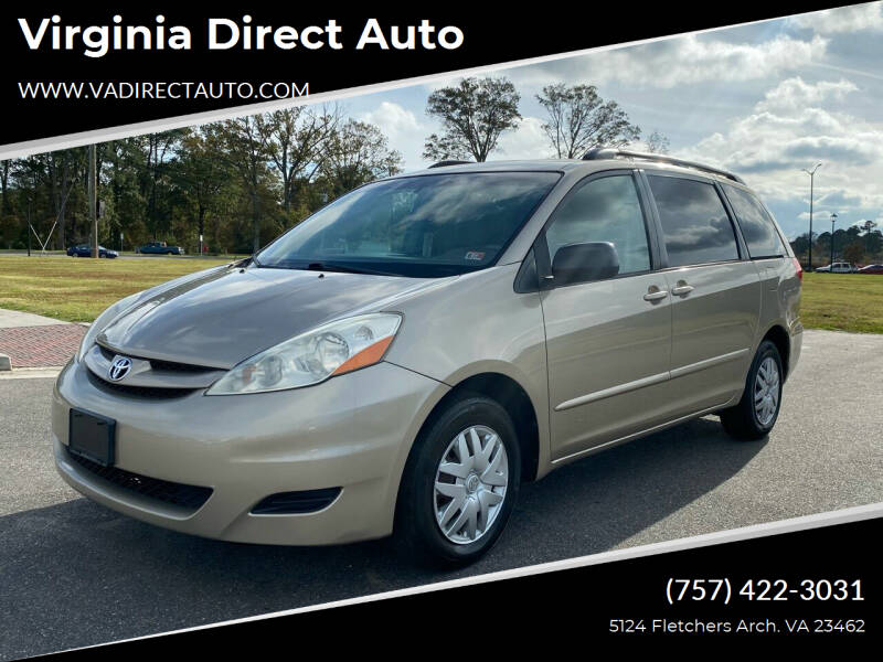 2007 Toyota Sienna for sale at Virginia Direct Auto in Virginia Beach VA