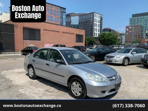 2005 Honda Civic for sale at Boston Auto Exchange in Boston MA
