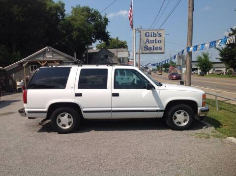 1999 Chevrolet Tahoe for sale at GIB'S AUTO SALES in Tahlequah OK