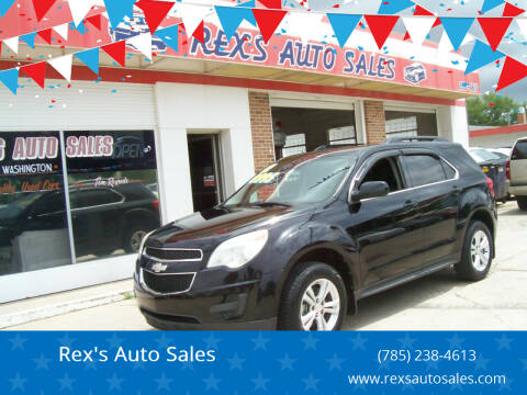 2012 Chevrolet Equinox for sale at Rex's Auto Sales in Junction City KS