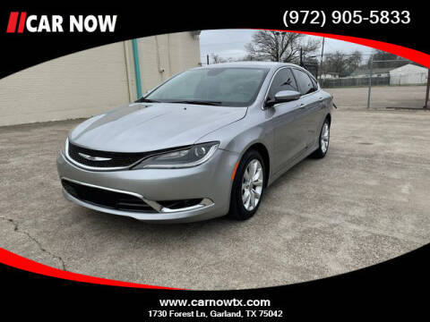 2015 Chrysler 200 for sale at Car Now in Dallas TX