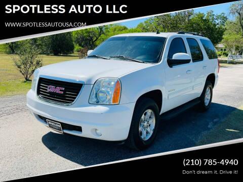2013 GMC Yukon for sale at SPOTLESS AUTO LLC in San Antonio TX