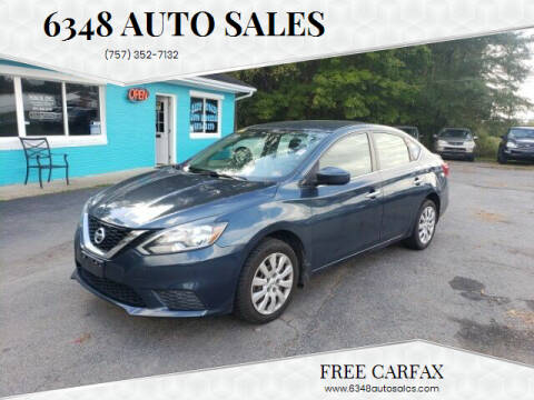 2016 Nissan Sentra for sale at 6348 Auto Sales in Chesapeake VA