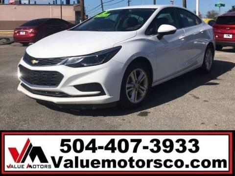 2016 Chevrolet Cruze for sale at Value Motors Company in Marrero LA