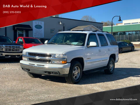 2002 Chevrolet Tahoe for sale at DAB Auto World & Leasing in Wake Forest NC