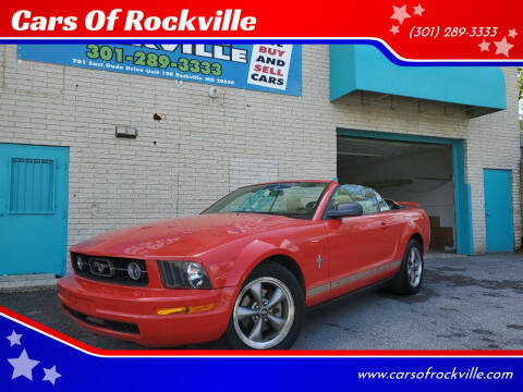 2006 Ford Mustang for sale at Cars Of Rockville in Rockville MD