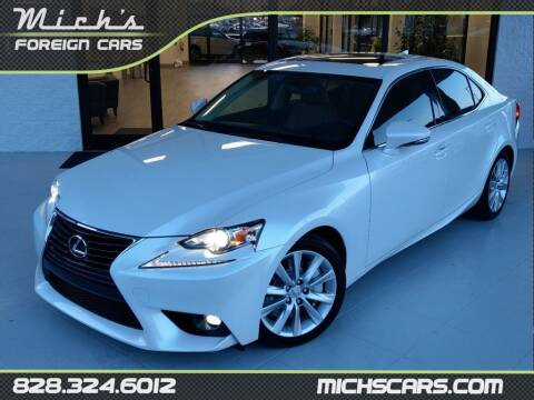 2016 Lexus IS 200t for sale at Mich's Foreign Cars in Hickory NC