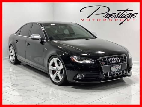 2012 Audi S4 for sale at Prestige Motorsport in Rancho Cordova CA