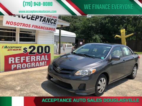 2011 Toyota Corolla for sale at Acceptance Auto Sales Douglasville in Douglasville GA