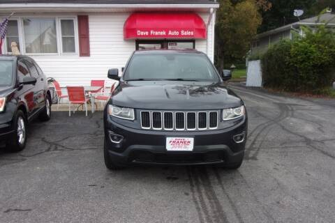 2016 Jeep Grand Cherokee for sale at Dave Franek Automotive in Wantage NJ