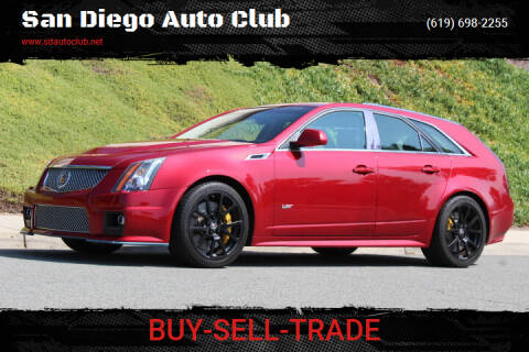 2012 Cadillac CTS-V for sale at San Diego Auto Club in Spring Valley CA